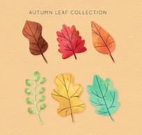秋季枝叶树叶矢量图