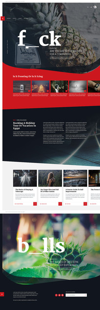 外国欧美商务网站模板