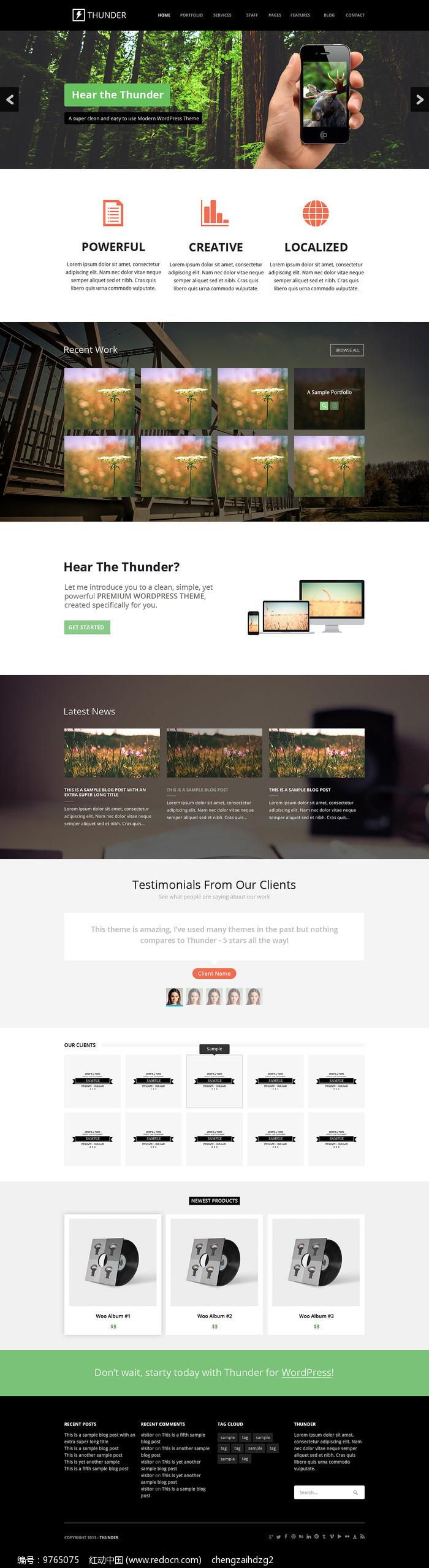 外国商务网站模板图片