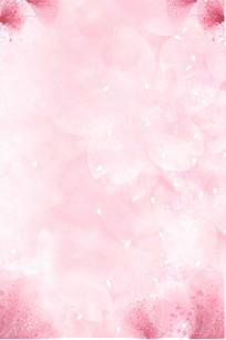 浪漫粉色花瓣背景