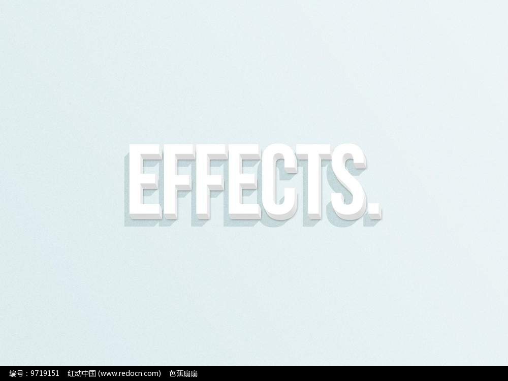 3D白色立体字体图片