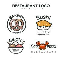 4款欧美餐饮酒店标志矢量图