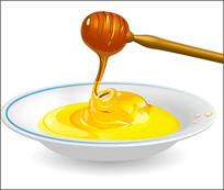 蜂蜜糖浆素材