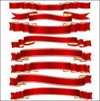 红色彩带素材