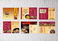 精美餐厅菜谱素材