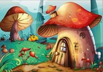 卡通森林背景素材