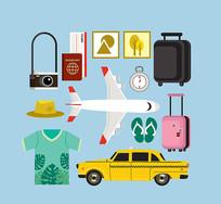 旅游出行应用设计矢量图