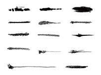 墨迹笔刷设计元素