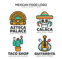 墨西哥餐厅标志矢量素材