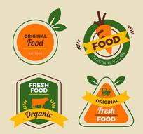 农产品标签矢量素