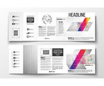 欧美商务宣传手册矢量模板