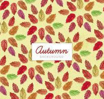 秋季树叶背景矢量素材