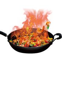 厨房炒菜火焰素材