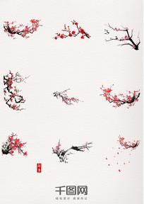 冬天腊梅梅花装饰元素