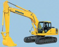 黄色大型挖掘机免抠png素材