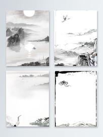 中国风水墨复古广告背景图