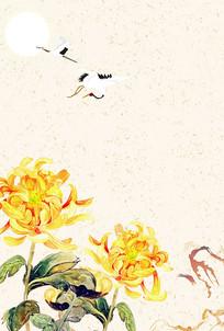 重阳节海报背景设计