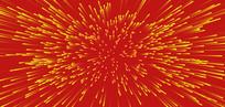 红黄发射线条背景