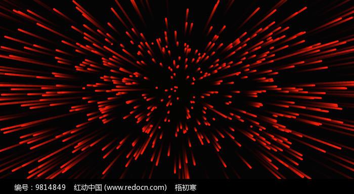 红色酷炫发射线条背景图片