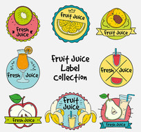 猕猴桃水果标签矢量素材