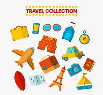 旅游行李箱应用元素矢量素材