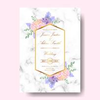 欧美婚礼婚庆邀请卡矢量模板