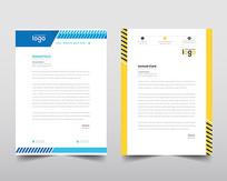 欧美商业公司信笺信纸设计