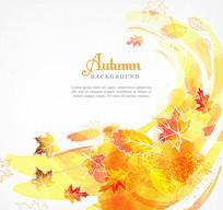 秋季枫树叶矢量背景素材