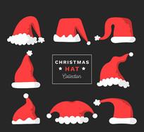 圣诞节装饰帽子矢量图