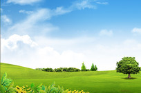 草原背景素材