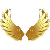 金色翅膀素材