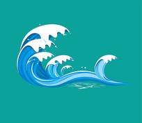 矢量海浪素材