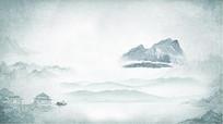 中国风水墨画广告海报