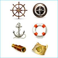 海盗物品素材