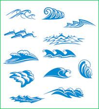海浪矢量图案