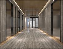 电梯间设计模型素材