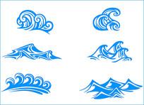 海浪矢量素材