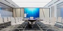 现代风格会议室3D模型素材
