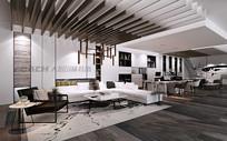 现代简约家居展厅3D模型