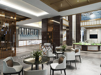 新中式售楼处设计模型素材