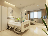 医院病房室3D设计模型