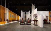 中式家具展厅3D设计模型