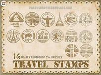 世界各国邮戳笔刷