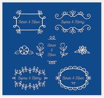 白色婚礼花纹矢量图