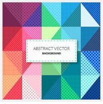 抽象彩色三角形背景矢量图
