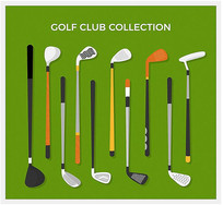高尔夫球杆设计矢量图