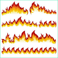 火焰矢量图案
