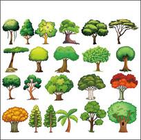 矢量树木素材