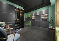 北欧厨房休息区3D模型