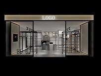 黑白风格服装店3D模型